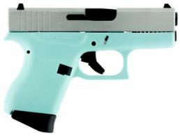 Glock G43 Subcompact Double 9mm Luger 3.39 6+1 Robin Egg Blue Polyme - PI4350201RES