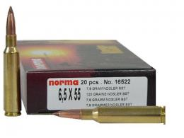 Norma 6.5 X 55 MM Swede 156 Grain Oryx 20/Box - 16562