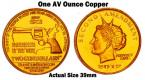 2012 $2 Copper Gun Dollar - GD2012C