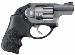 RUGER LCR 38SPC GRAY/HOGUE 5RD DAO - 5412