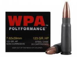 Wolf 7 62x39 123gr Jacketed Hollow Point 1000 RDS