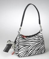 GTM-0070ZBR Concealed Carry Basic Hobo Handbag Zebra