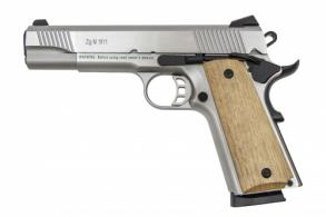 "Tisas 1911-A2 45 ACP 5"" Stainless Walnut Grips"