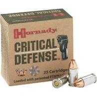 Hornady 90250LE 9MM 115 Grain FTX Critical Defense