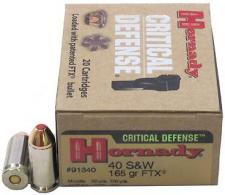 Hornady 40 S&W 165 gr FTX Critical Defense
