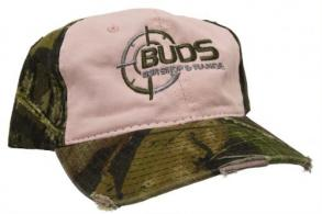 Buds Gun Shop & Range Pink/Camouflage Ladies Baseball Hat - 89695