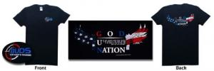 "Buds logo t-shirt ""NATION UNDER GOD"" - Our #1 seller! ** SHIPS FREE !!"