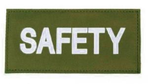 BlackHawk Safety Patch HK & LP White/Green - 90IN05WG