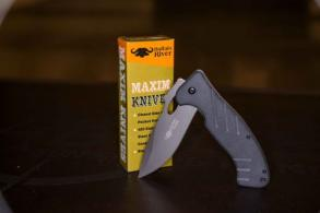 "Buffalo River Maxim 4.5"" Folder Knife with Pocket Clip - BRKM500"