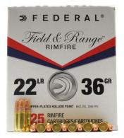 Federal Field and Range .22 LR  525 Copper HP - FR2236