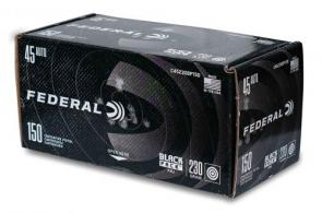 Federal Black Pack .45 ACP 230gr FMJ 150 rounds - C45230BP150