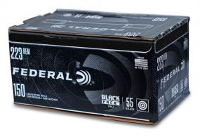 Federal Black Pack .223 REM/5.56 NATO  55gr FMJ 150 rounds - AE223BF150