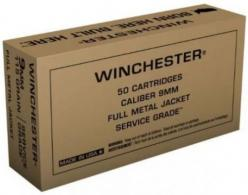 Winchester 9mm 115gr FMJ 500 rounds FREE SHIPPING