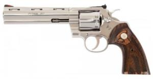 Colt Python Revolver .357 MAG 6in. Stainless/Walnut 6rd - PYTHONSP6WTS