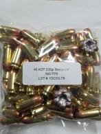 Legend Ammo .45 ACP Berry Hollow Point 230gr 100rd - LEG45acpBerry230gr