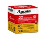 Aguila 22LR HV Copper plated Solid Point 40gr 500 rd pack - 1b221115