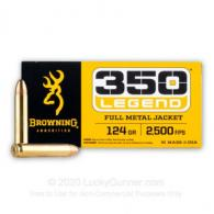 Browning ammo 350 Legend 124gr FMJ 20rds - B192803501
