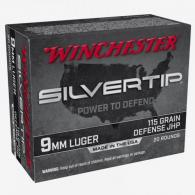 Winchester Silvertip 9mm 115gr Jacketed Hollow Point 20rd - W9MMST