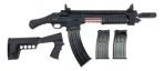 "Emperor Arms King 12 Pump Action Firearm 18.5"" BRL Spring-Assisted Black - KNG12BL"