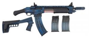 "Emperor Arms King 12 Pump Action Firearm 18.5"" BRL Spring-Assisted Blue - KNG12BLU"