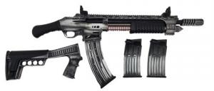 "Emperor Arms King 12 Pump Action Firearm 18.5"" BRL Spring-Assisted Grey - KNG12GRY"