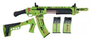"Emperor Arms King 12 Pump Action Firearm 18.5"" BRL Spring-Assisted Zombie Green - KNG12ZOM"