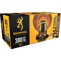 Browning Training & Practice ammo 380acp 95gr FMJ 100rd box - B191803804