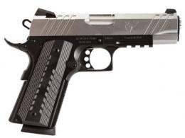 "Devil Dog 1911 9mm 10RD 4.25"" Blk/SS Tac Rail - DDA425RSS9M"