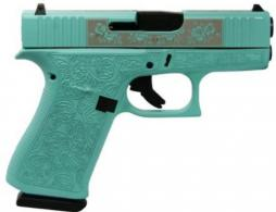 "Glock 43X Custom Engraved Tiffany 9MM 10RD 3.41"" - PX4350201GRP"