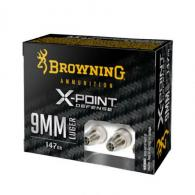Browning X-Point Defense 9mm 147gr Hollow Point 20rd box