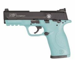 "Smith & Wesson M&P22C .22 LR  3.6"" 10RD SEMI RBN EGG BLUE - 12392"