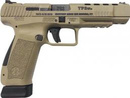 "Century Arms Canik TP9SFX 9mm 5.25"" Desert Tan Fiber Optic/Warren Tactical Sights 20+1 - HG3774DN"