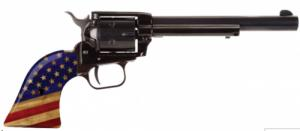 "Heritage Rough Rider .22LR BK 6 1/2"" 6rd w/Flag Grip - RR22B6GOLDUSA"