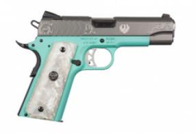 "Ruger SR1911 9mm 9rd 4.25"" Robin Egg Blue/Pearl Grip - 6773"