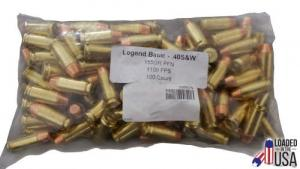 LEGEND .40S&W 155gr 100rd Flat Nose