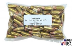 Legend Ammo 9MM HAP JHP 124GR 100RD