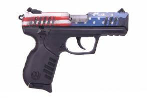 Ruger SR22 US FLAG .22 LR 3.5 Black Adjustable Sights - 3642