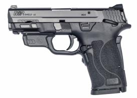 "Smith & Wesson - M&P Shield EZ, 9mm, 3.675"" Barrel, Adj Sights, Black,Thumb safety, Crimson Trace laser, 8rd - 12438"