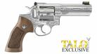"Ruger - GP100, 357 Mag, 4"" Barrel, HiViz FO Front/Adj Rear, Stainless, Wood Grip, Engraved, TALO - 1784"
