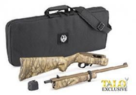"Ruger - 10/22 Takedown, 22 LR, 16.12"", Fixed Sights, Bronze Cerakote/Go Wild Camo, 10-rd, TALO - 31146"