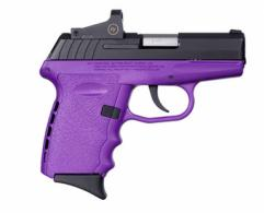SCCY CPX-2 9MM Blk/Purple 10RD W/Reddot - CPX2CBPURD