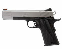 "Kimber  Stainless LW .45ACP, 5"", Reverse Two-Tone Pistol, White Dot Rear/Red Fiber Optic Sights, 8rd Magazine, Black Laminate Wo - 3700607"