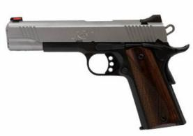"Kimber Stainless LW .45ACP, 5"", Reverse Two-Tone Pistol, White Dot Rear/Red Fiber Optic Sights, 8rd Magazine, Cocobolo Wood Grip - 3700605"