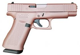 "Glock - G43X, 9mm, 3.39"" Barrel, Fixed Sights, Rose Gold, Rose Gold PVD Barrel, 10-rd - PX4350204"