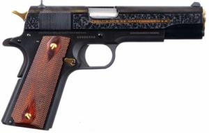Colt 1911 Heritage 38 Super 7+1 Engraved with Gold accents - O1911C38DHM