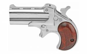 "Cobra Pistols, Classic Derringer, 22WMR, 2.4"" Barrel, Alloy Frame, Chrome Finish, Rosewood Grips, Right Hand, 9.5oz, Fixed Sight - CL22MCR"