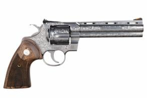 Colt Python 357Mag  SS/Walnut 6in Engraved 6Rd. - 12405