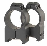 Warne High Scope Rings w/Matte Finish - 202M