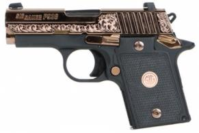 Sig Sauer 9389ERGAMBI P938 Single 9mm 3 6+1 Black G10 Grip Polished Rose Gold - 9389ERGAMBI
