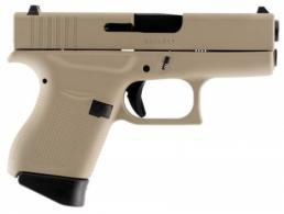 Glock PI4350201DTN G43 Double 9mm 3.39 6+1 Desert Tan Interchangeable Backstra - PI4350201DTN